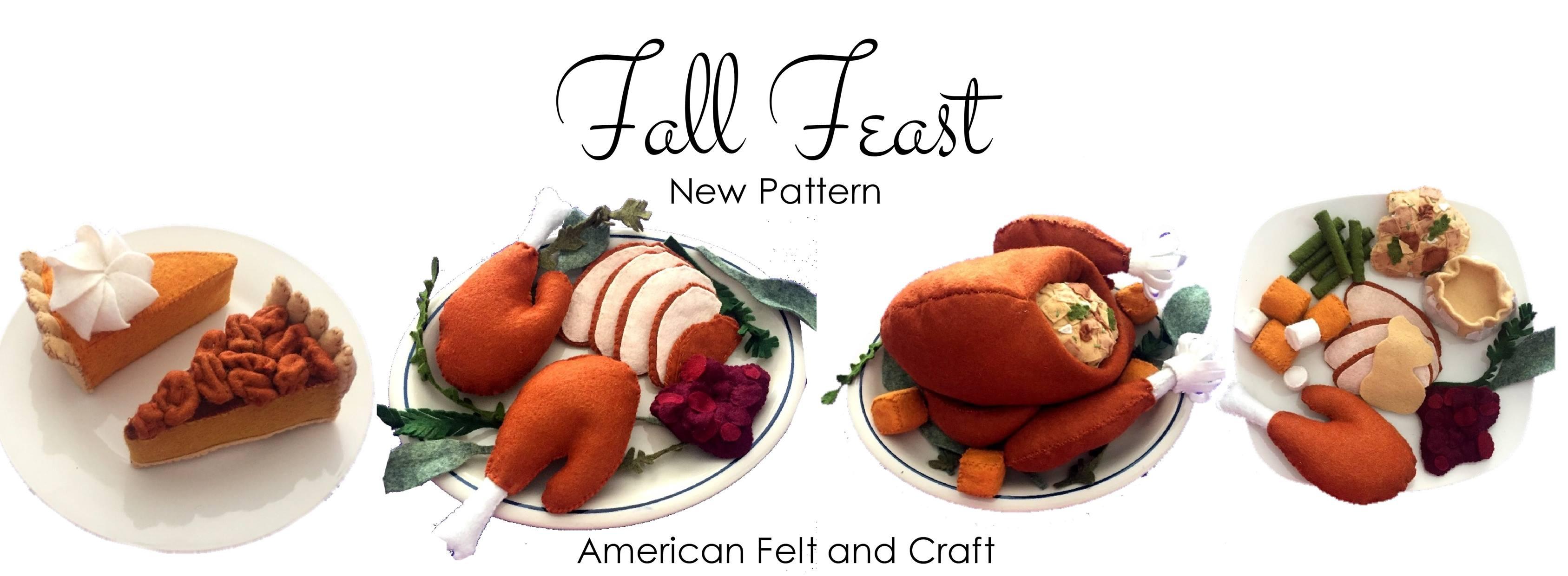 Felt food Thanksgiving turkey