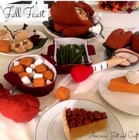 Felt Foods Thanksgiving Feast American Felt and Craft