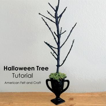 Make an easy halloween tree - how to