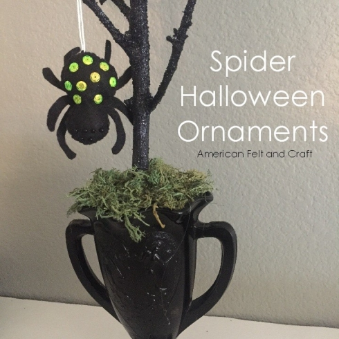 Spider Halloween Ornaments from felt