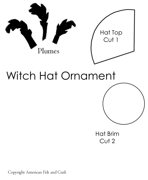 Felt Witch Hat Halloween Ornaments American Felt Craft Blog