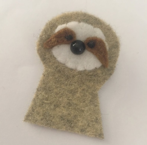felt sloth - DIY pattern