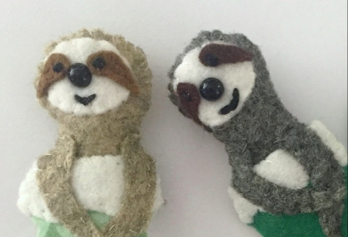 attach sloth to stocking- felt Christmas ornament