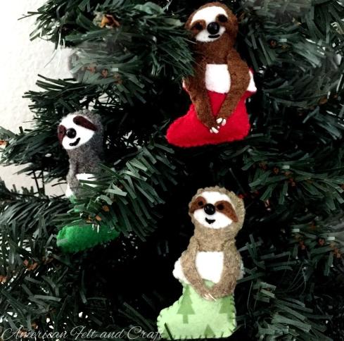 Felt Sloths