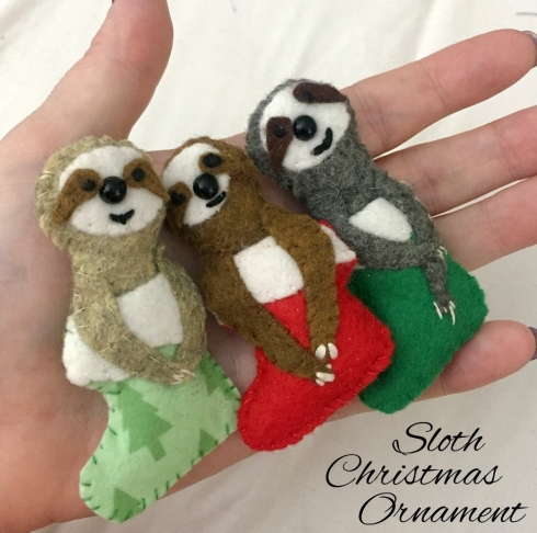 How to make a sloth ornament