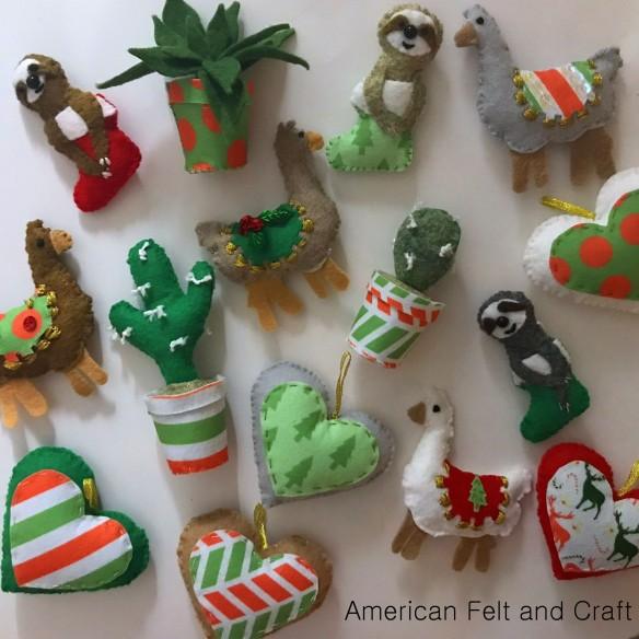 Felt Christmas Tree Ornaments Patterns.Felt Christmas Ornament Patterns American Felt Craft Blog