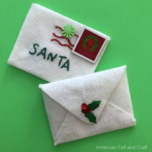 Sewing tutorial: Letter to Santa Christmas Ornament