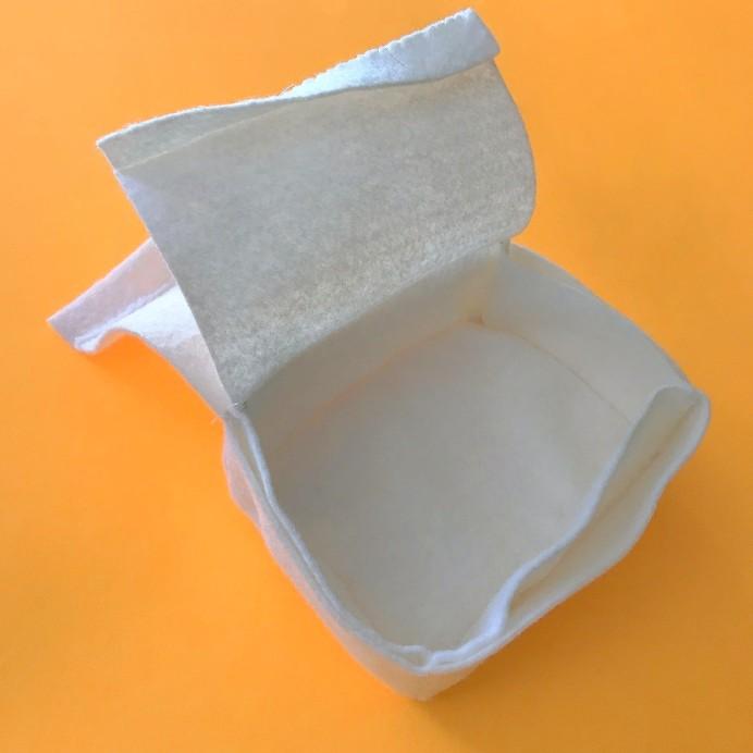 making a felt box pattern