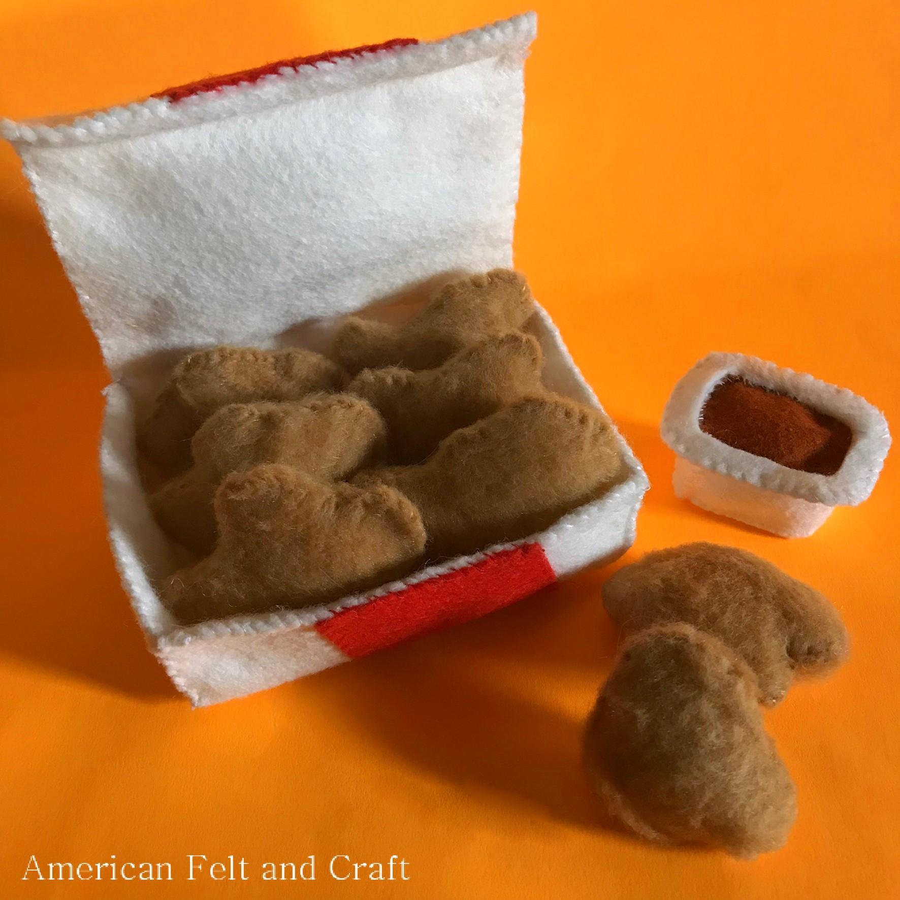 Pattern to make felt chicken nuggets felt food tutorials