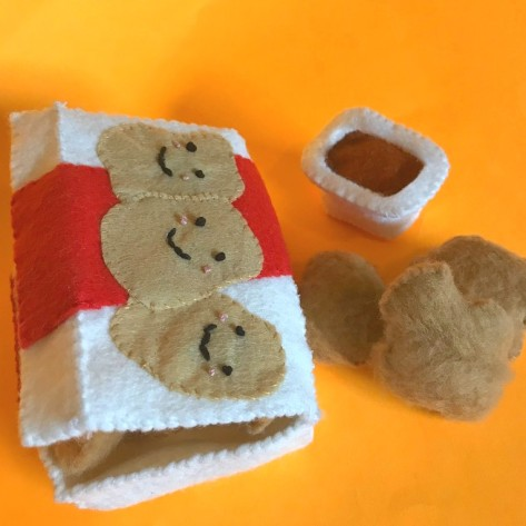 felt food nuggets - mcnuggets