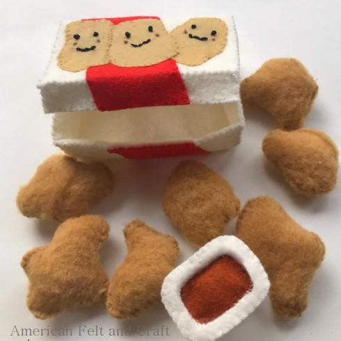 Felt chicken nuggets- Felt food