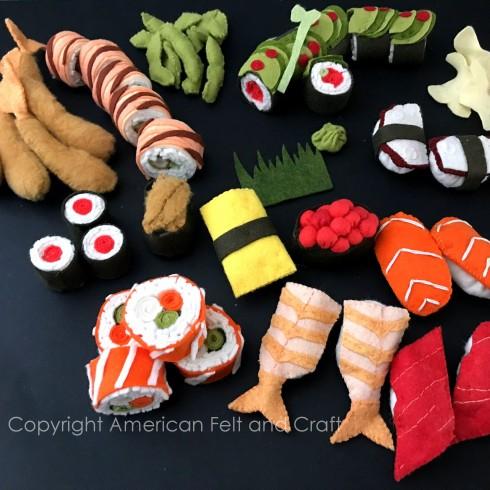 Felt sushi pattern