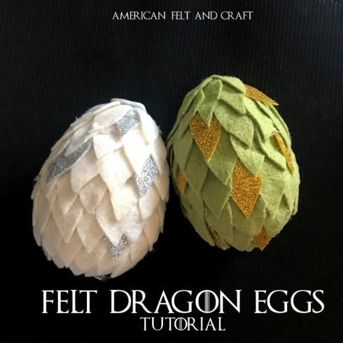 felt dragon eggs