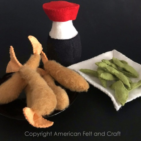 Making felt sushi - pattern and tutorial