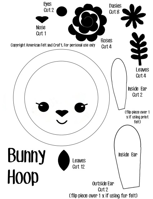 Felt Bunny Hoop Template