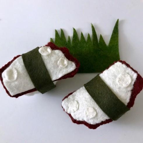 Making felt sushi