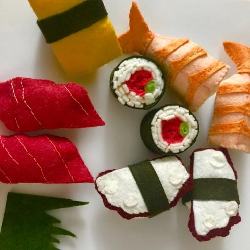 Felt pattern for sushi