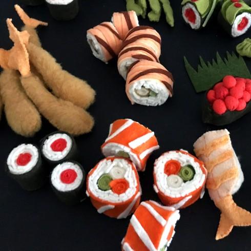 Felt sushi tutorial pattern easy DIY playfood