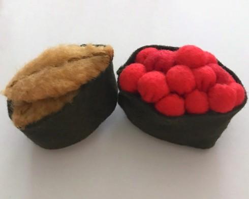 felt sushi pattern and tutorial