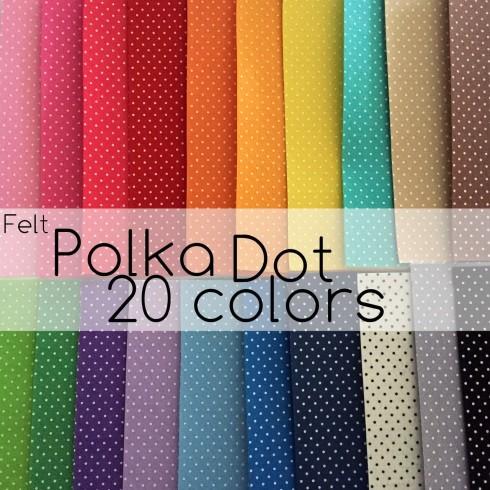 Polka Dot Felt Sheets