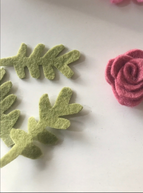 felt roses template