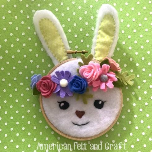 Easter craft - felt crafts for spring