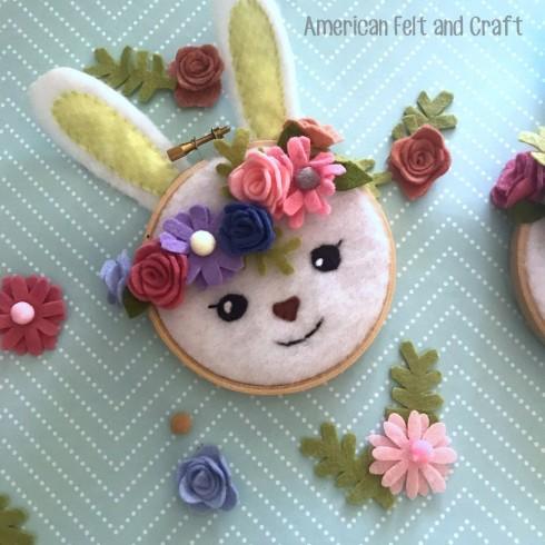 Cute felt spring crafts - free pattern spring craft decor