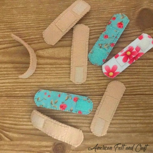 Felt bandages- free pattern and tutorial - screen free play