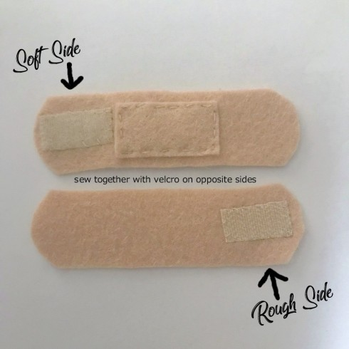 felt bandages - easy DIY