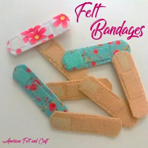 DIY felt bandaides, bandages