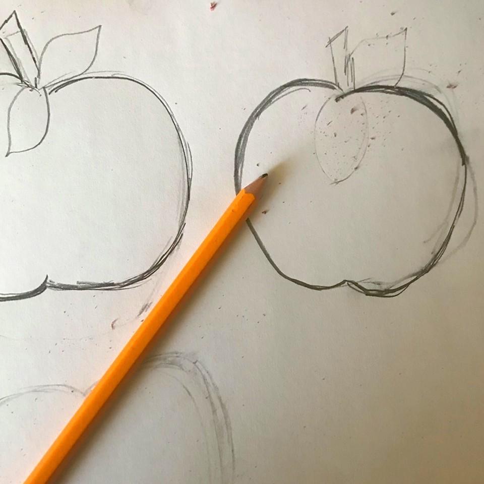 sketching felt ornaments