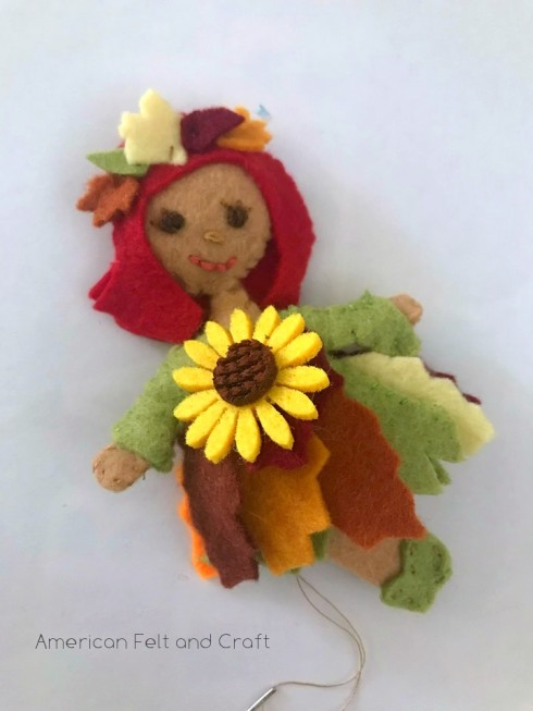 free fall fairy tutorial and pattern felt