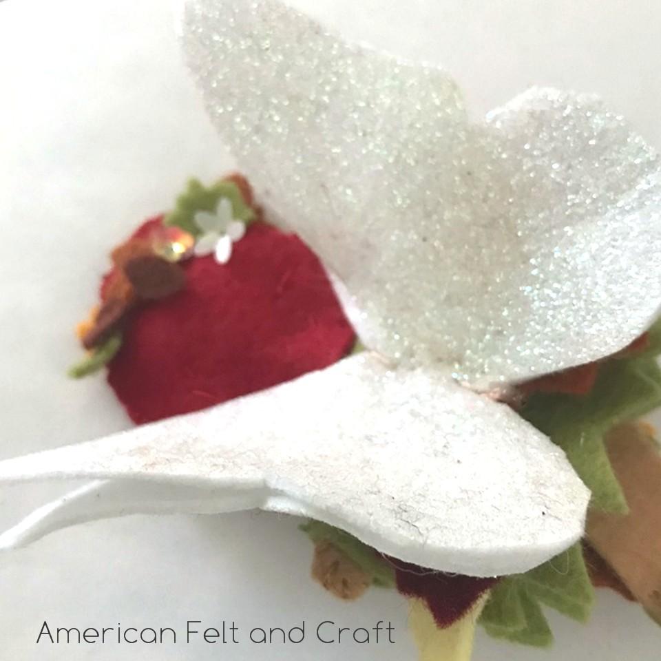 glitter felt flower fairy fall free tutorial