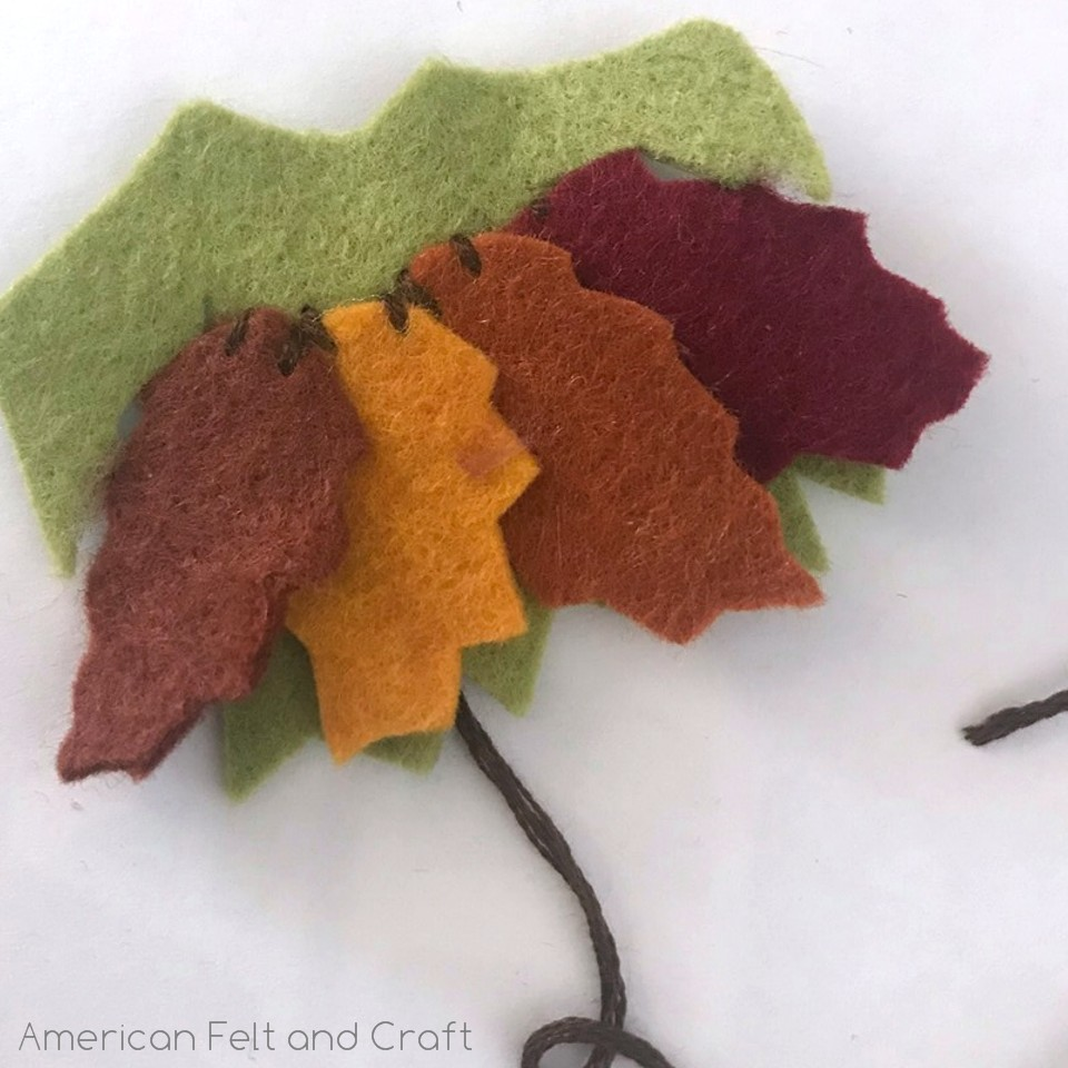 Leaf dress- fall fairy felt tutorial