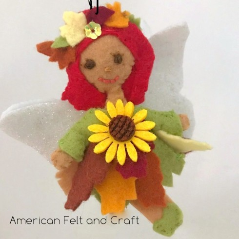 fall flower fairy ornament tutorial