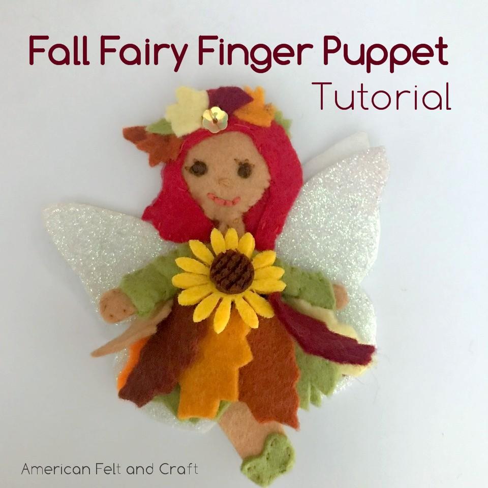 Fall Fairy Finger Puppet