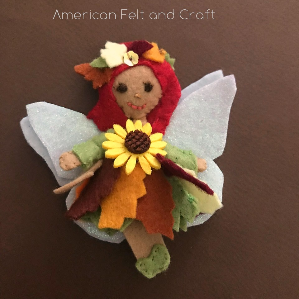 Fall flower fairy free pattern and tutorial -American Felt and Craft