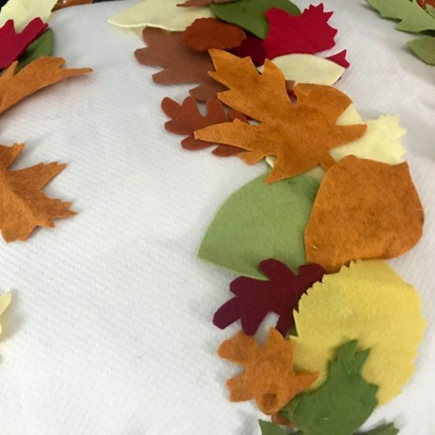 felt leaf pillow