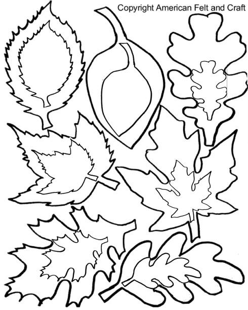 Leaf shapes template pattern