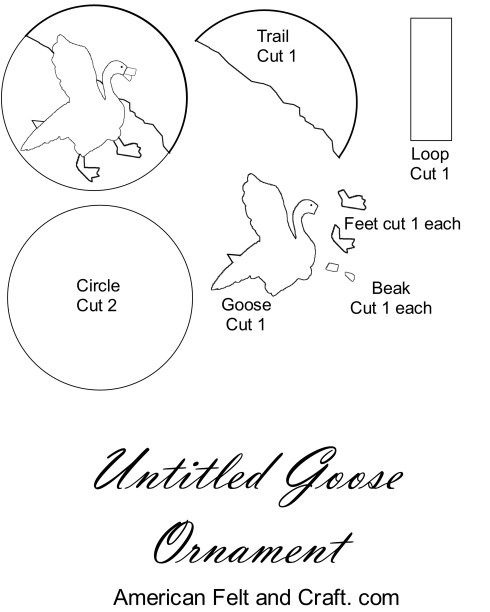 untitled goose game craft template