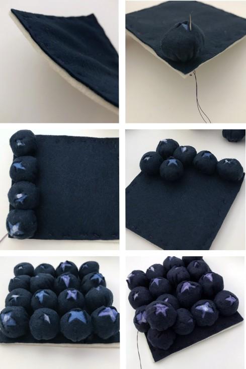 making felt food blueberries DIY free pattern