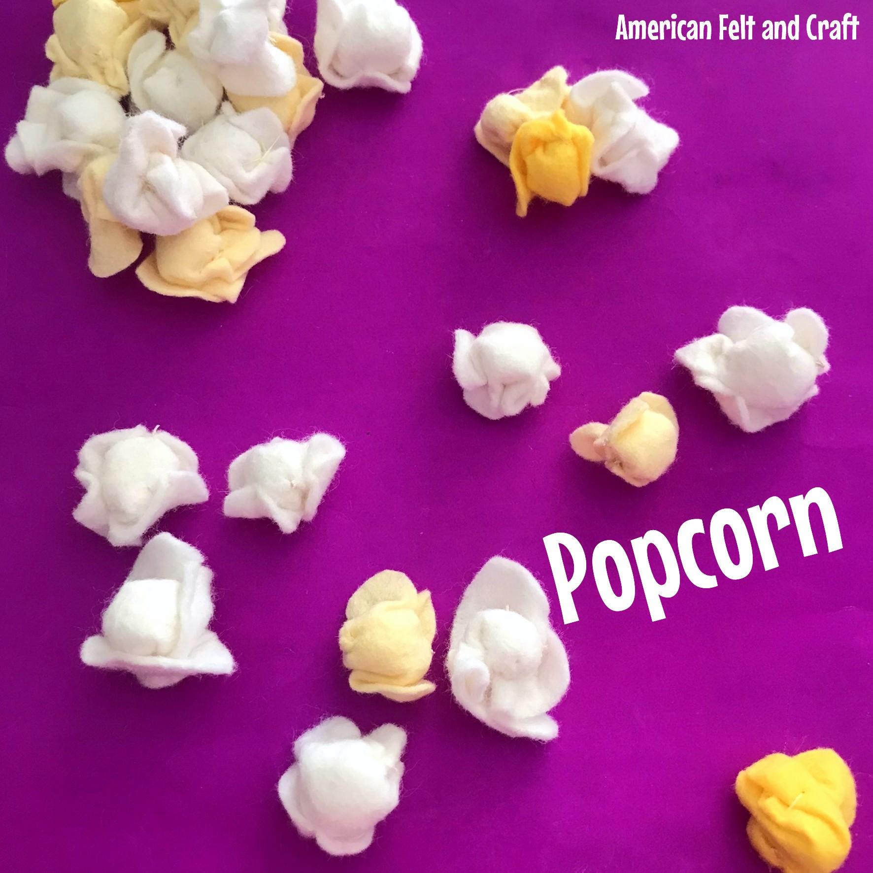 DIY felt food popcorn