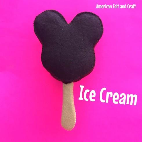 Felt food ice cream pattern