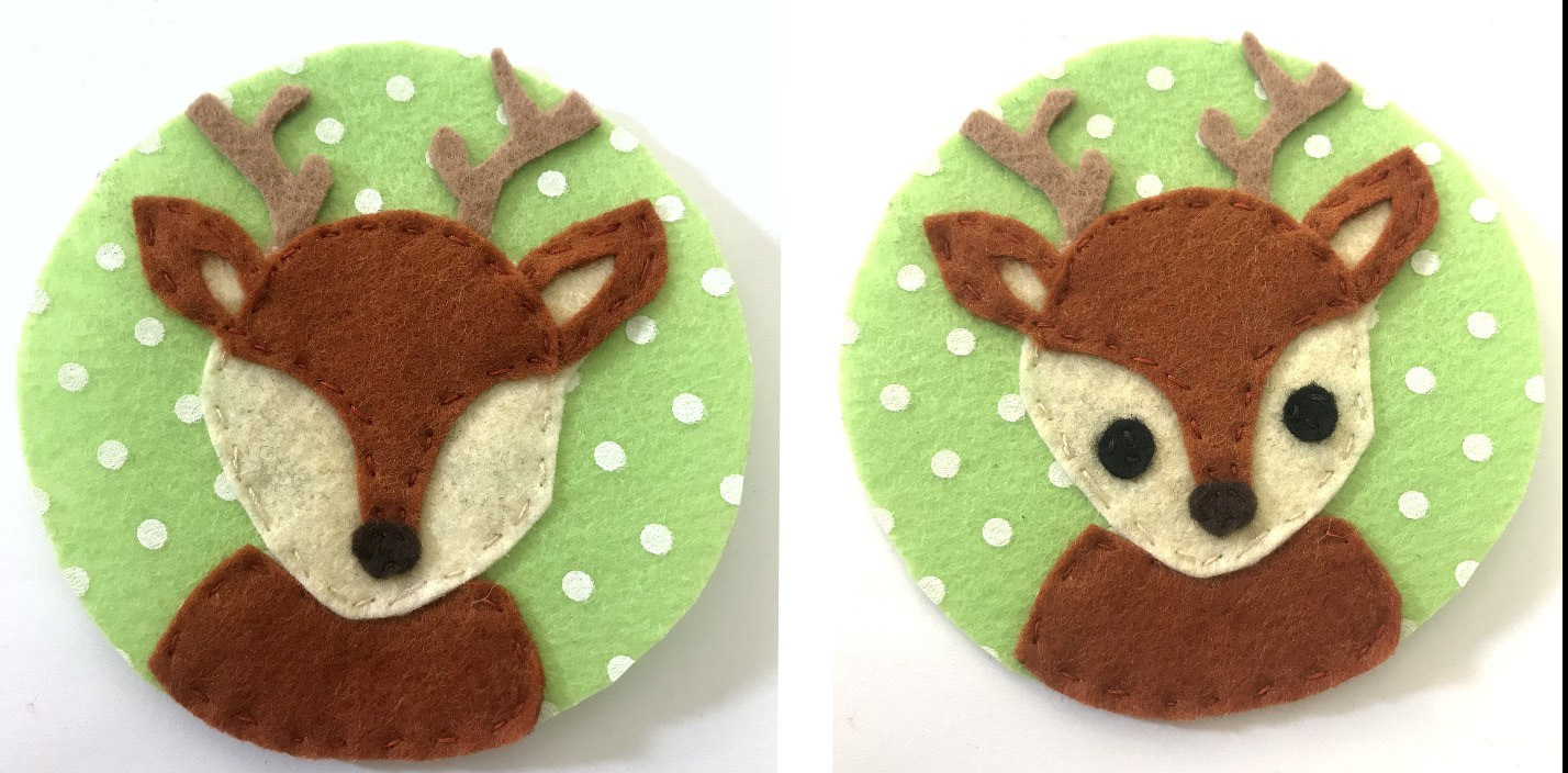 DIY felt deer craft - ornament
