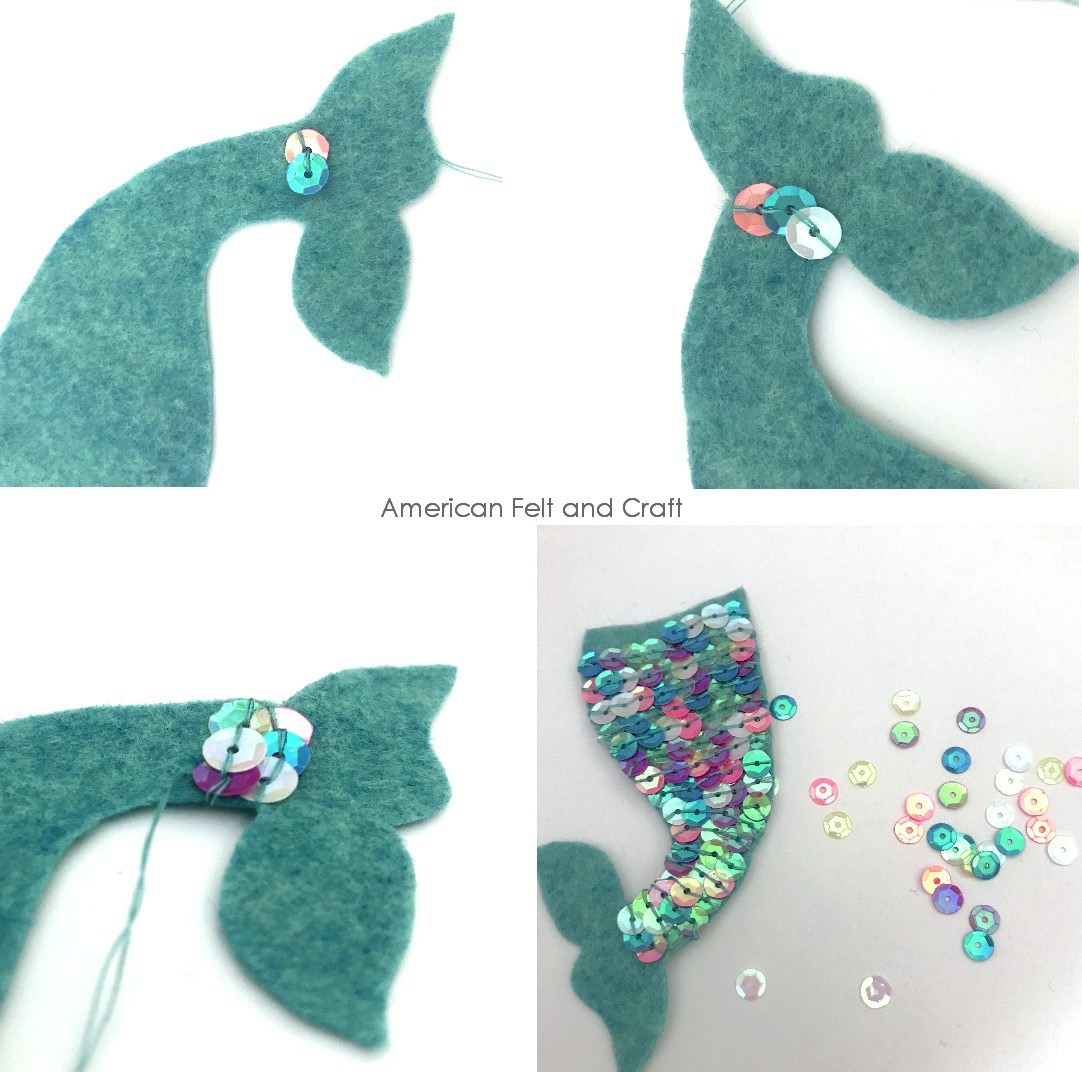 mermaid tail ornaments