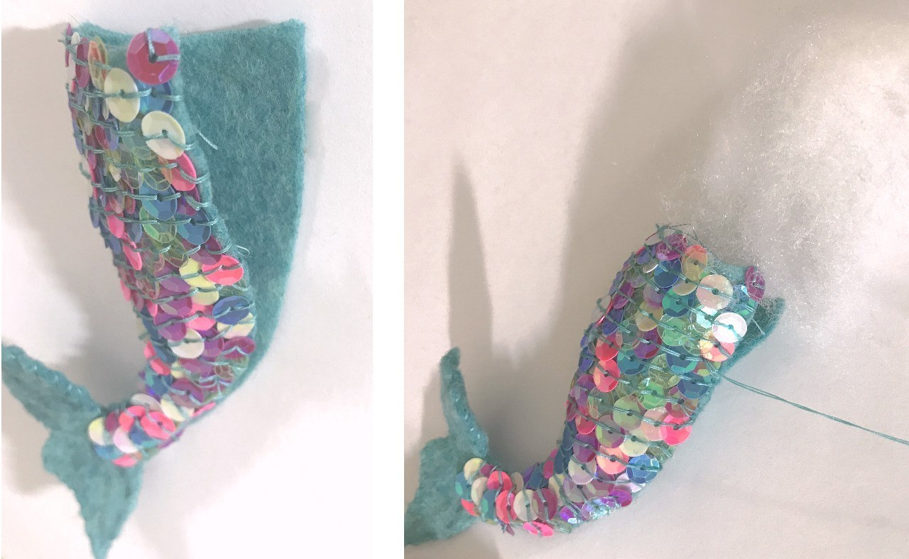 felt sequin mermaid tail