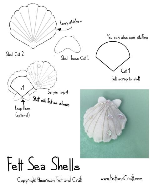 Felt sea shell pattern