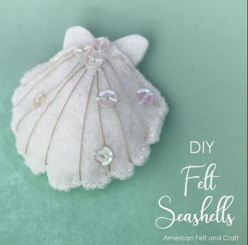 felt seashell pattern DIY