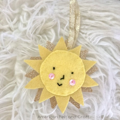 felt sunshine ornament