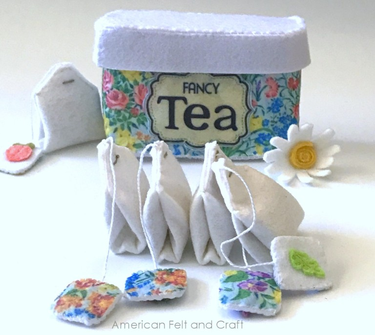 Felt Tea Tin and Tea Bags - Free Sewing Pattern